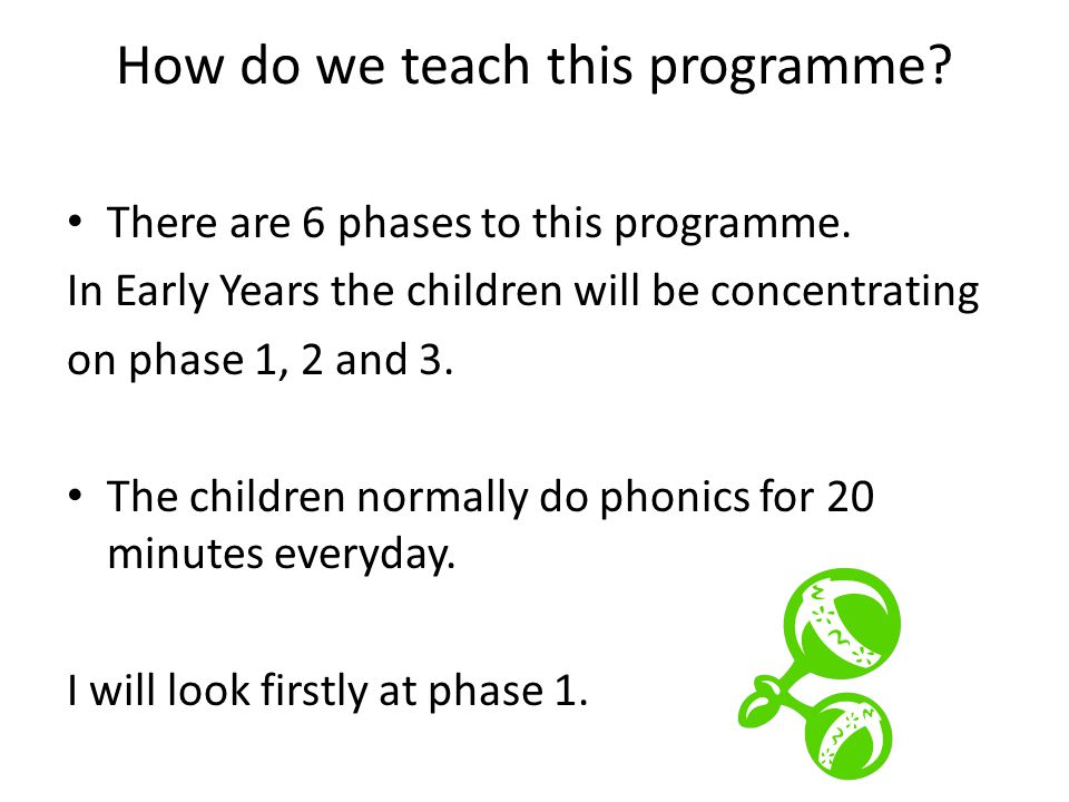 How do we teach this programme