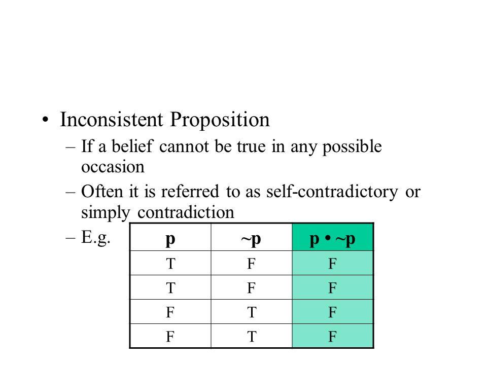 Inconsistent Proposition