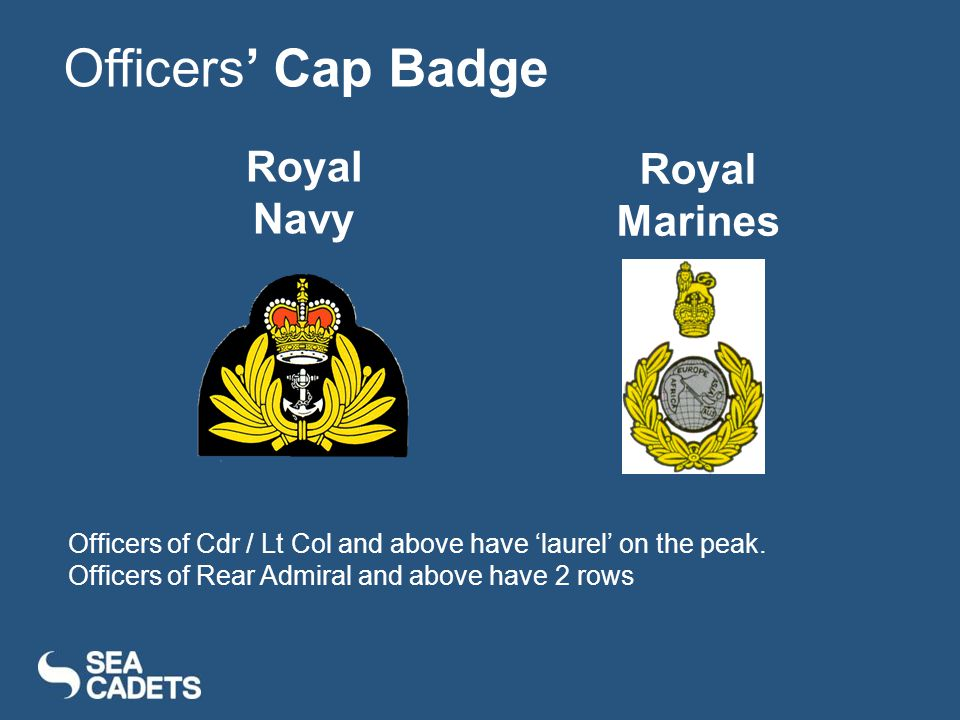 Officers' Cap Badge Royal Navy Royal Marines