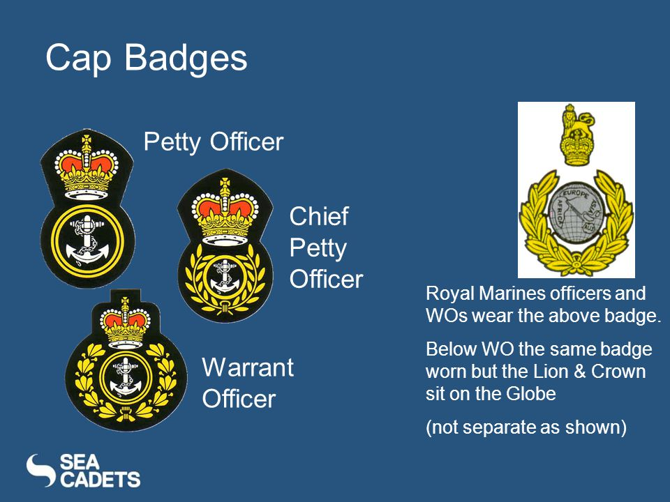 Cap Badges Petty Officer Chief Petty Officer Warrant Officer