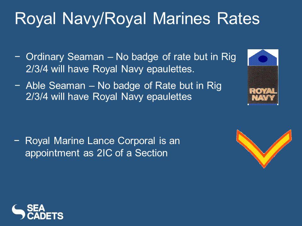 Royal Navy/Royal Marines Rates