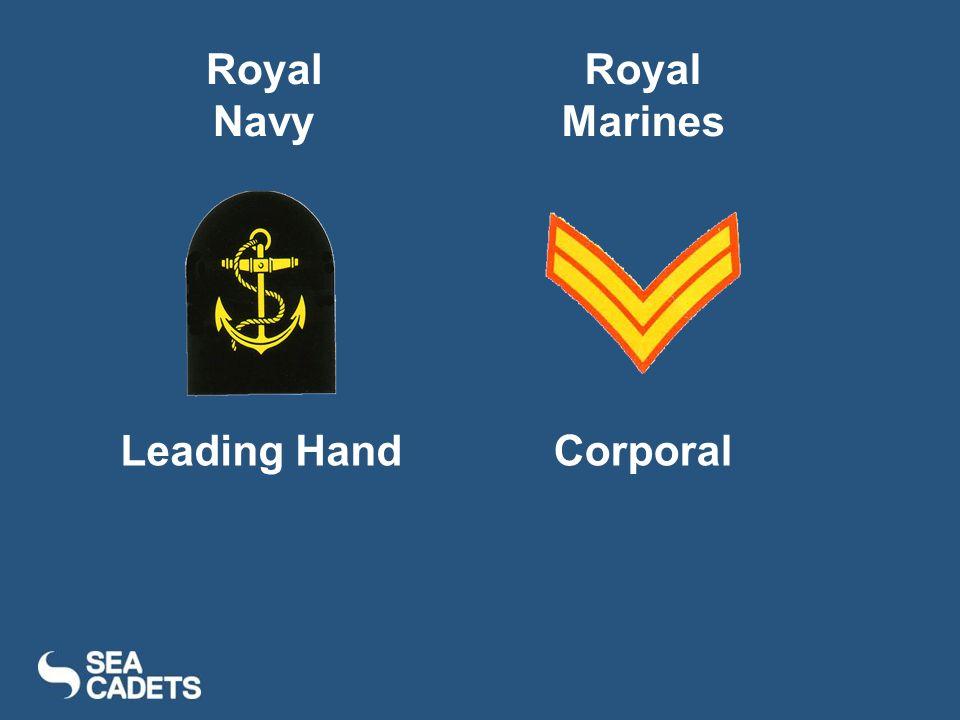 Royal Navy Royal Marines Leading Hand Corporal