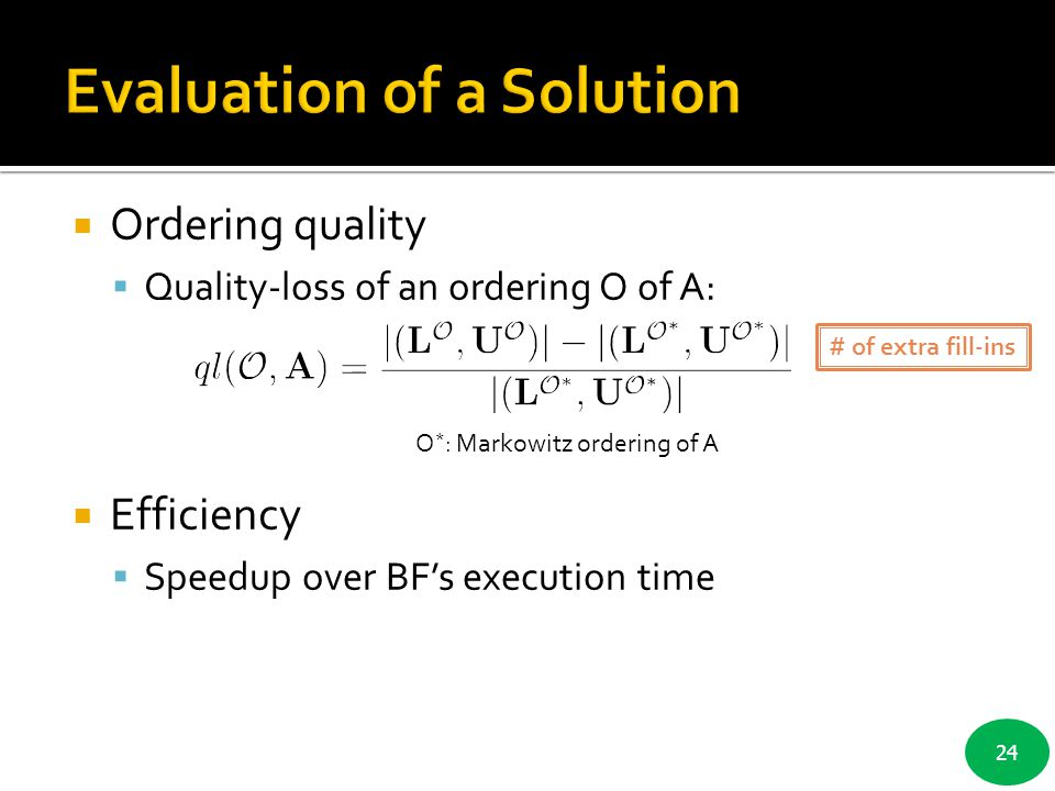 Evaluation of a Solution
