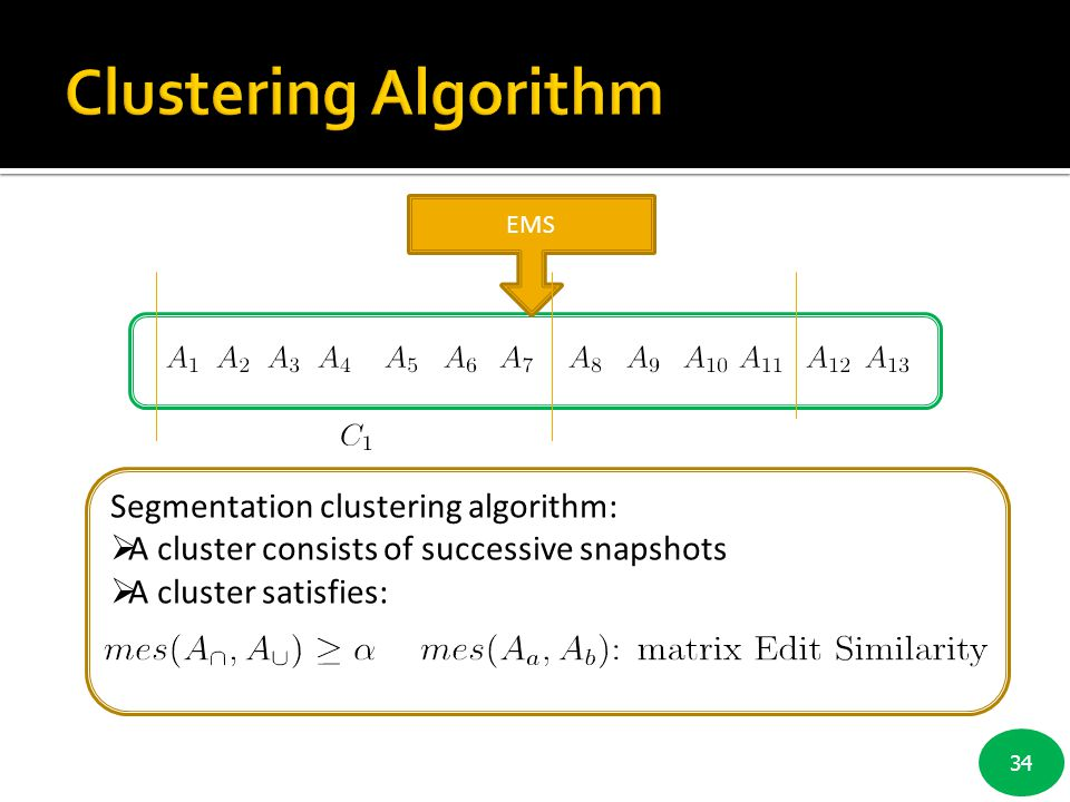 Clustering Algorithm Segmentation clustering algorithm: