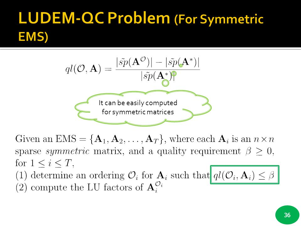 LUDEM-QC Problem (For Symmetric EMS)