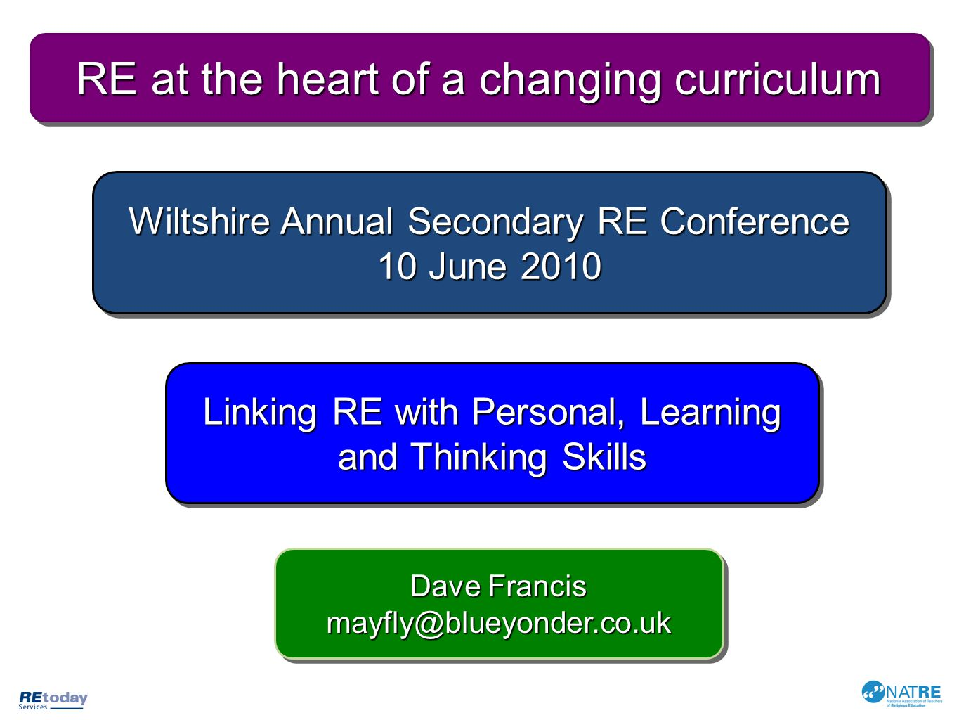 RE at the heart of a changing curriculum