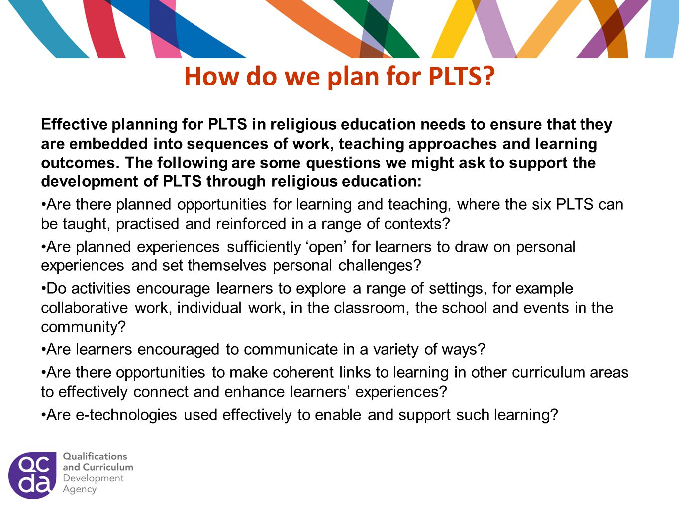 How do we plan for PLTS