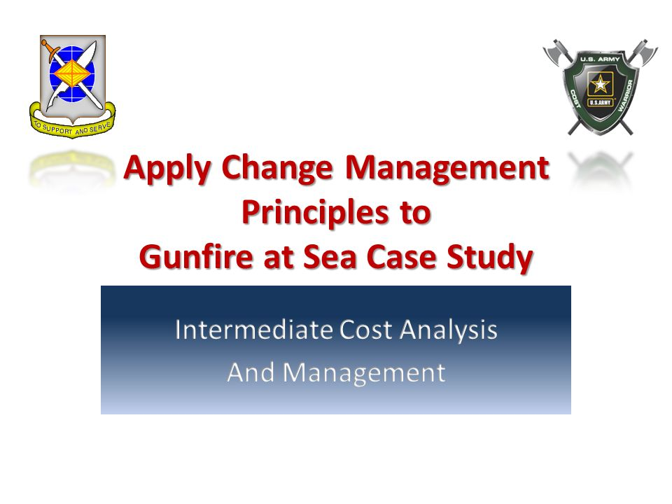 Apply Change Management Principles to Gunfire at Sea Case Study