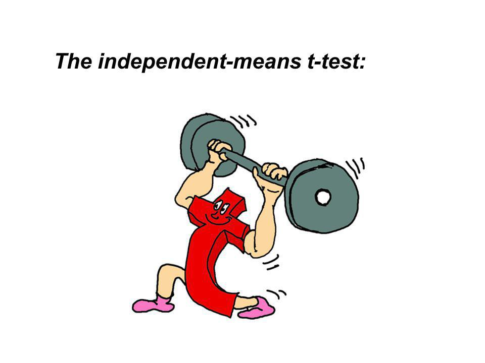 The independent-means t-test:
