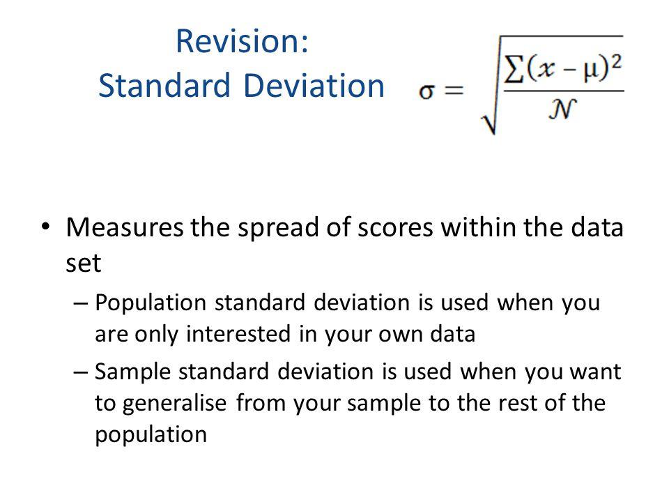 Revision: Standard Deviation