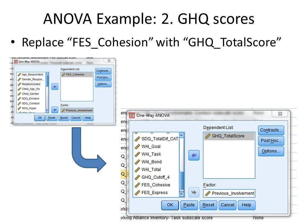 ANOVA Example: 2. GHQ scores