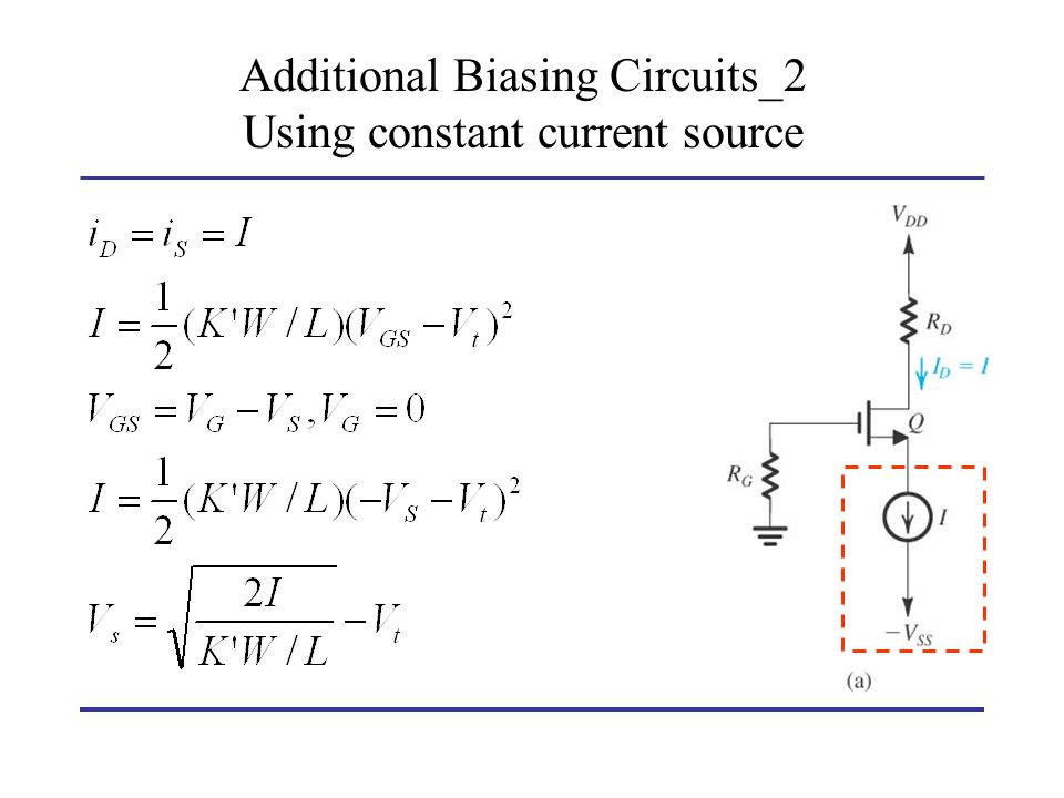 Additional Biasing Circuits_2 Using constant current source