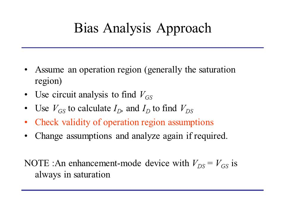 Bias Analysis Approach