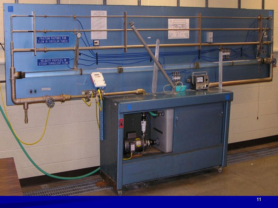 Example of lab scale pipe line system