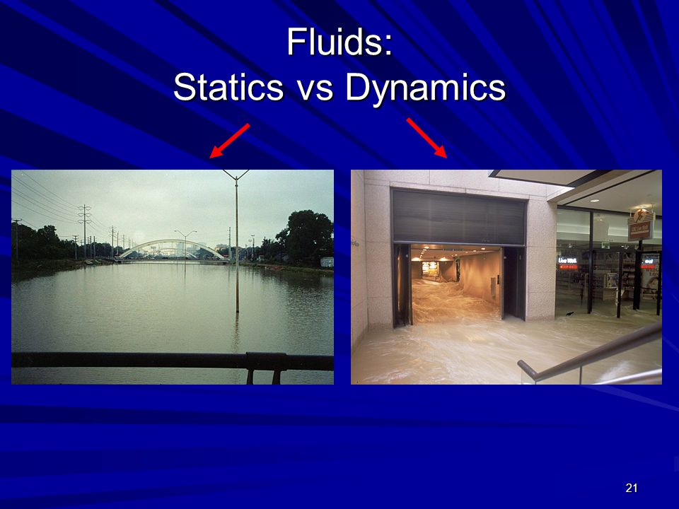 Fluids: Statics vs Dynamics