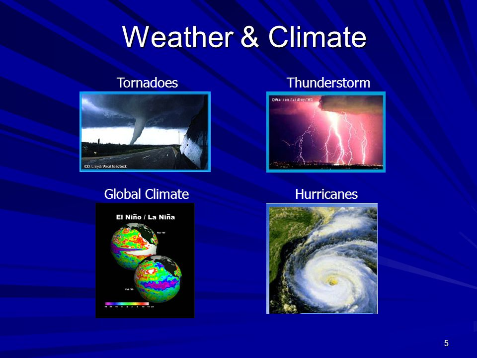Weather & Climate Tornadoes Thunderstorm Global Climate Hurricanes