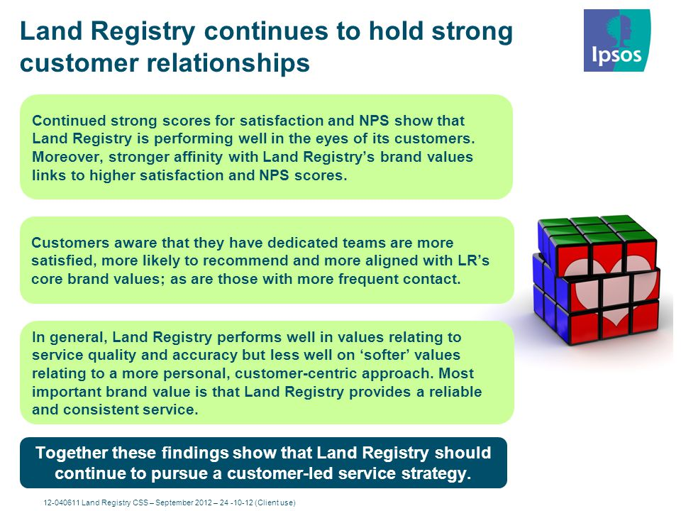 Land Registry continues to hold strong customer relationships