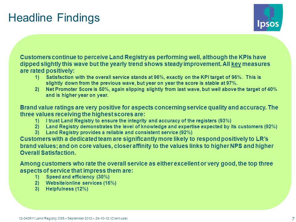 Land Registry's Key Measures KPI