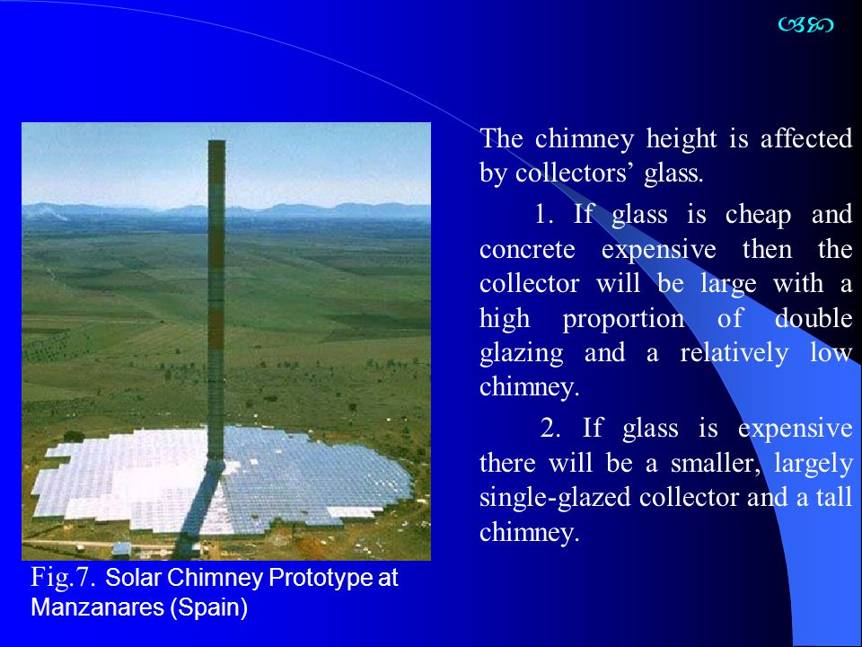  The chimney height is affected by collectors' glass.
