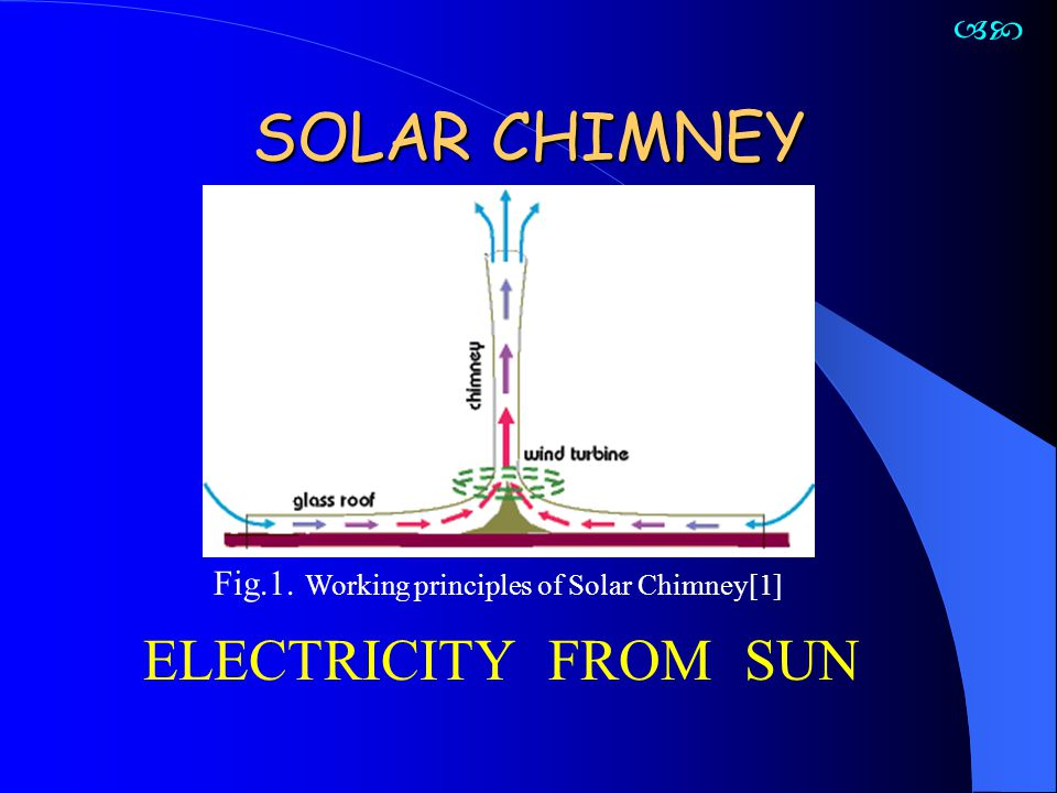 SOLAR CHIMNEY ELECTRICITY FROM SUN 