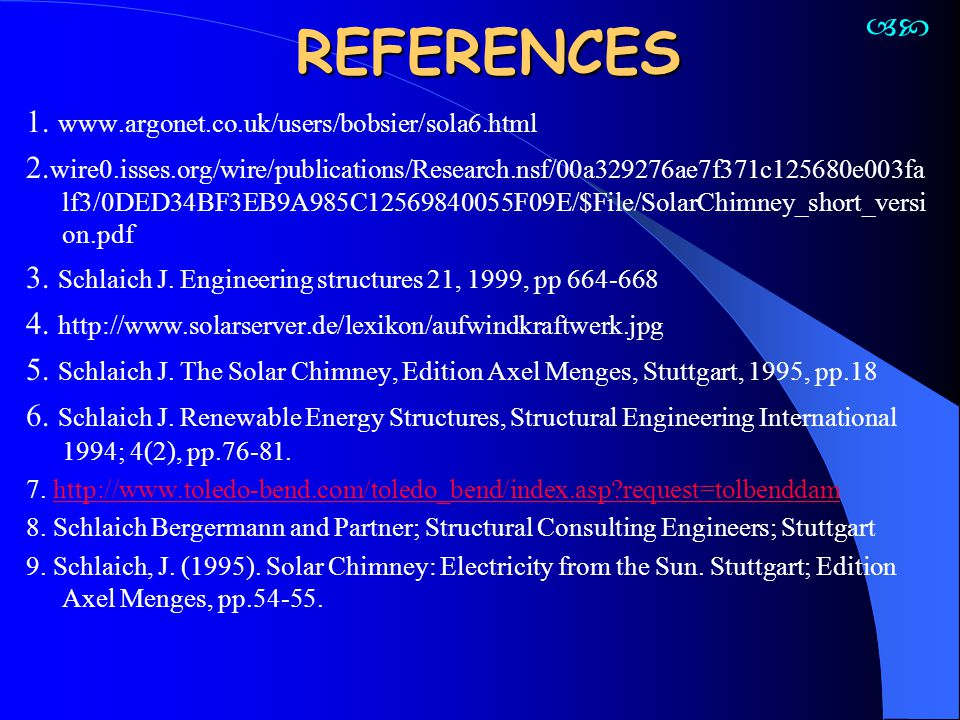 REFERENCES  1. www.argonet.co.uk/users/bobsier/sola6.html
