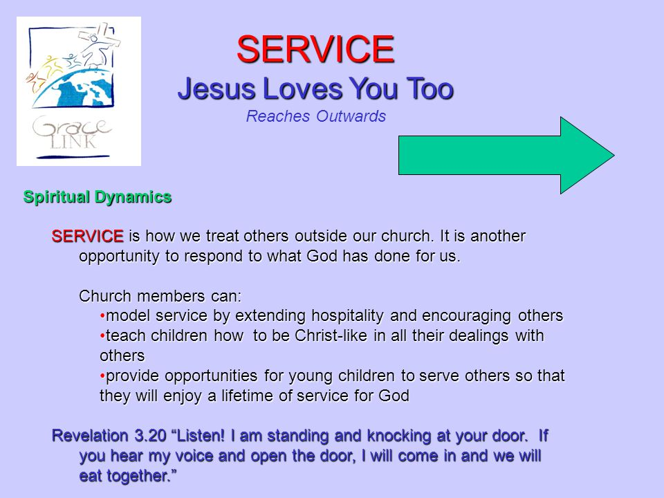 SERVICE Jesus Loves You Too Reaches Outwards Spiritual Dynamics