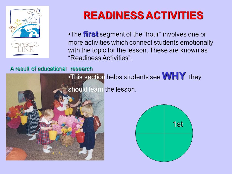 READINESS ACTIVITIES 1st