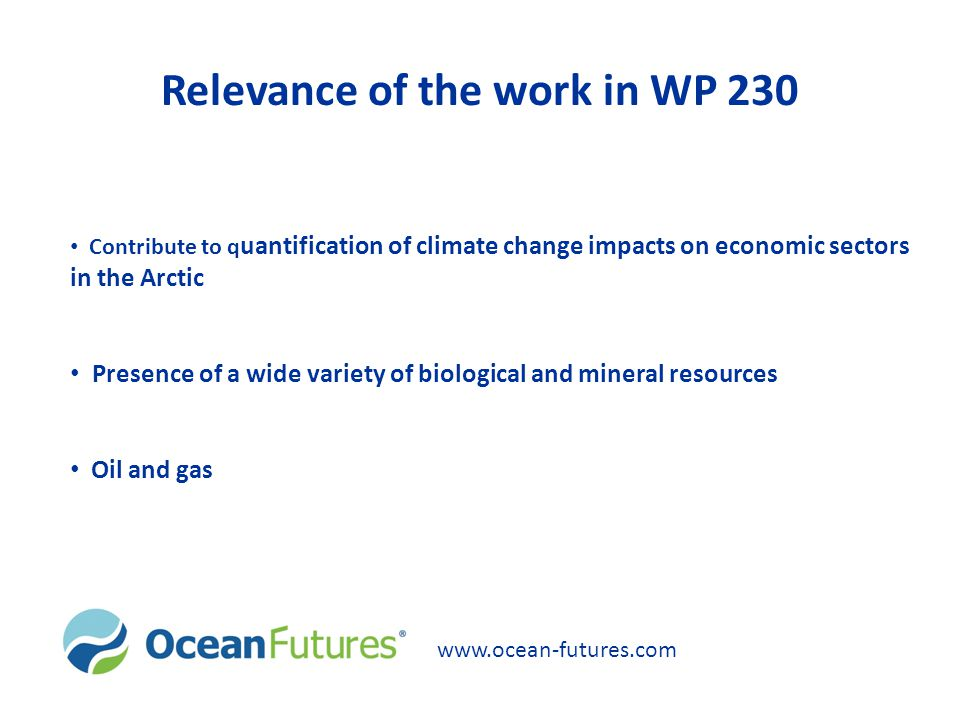 Relevance of the work in WP 230