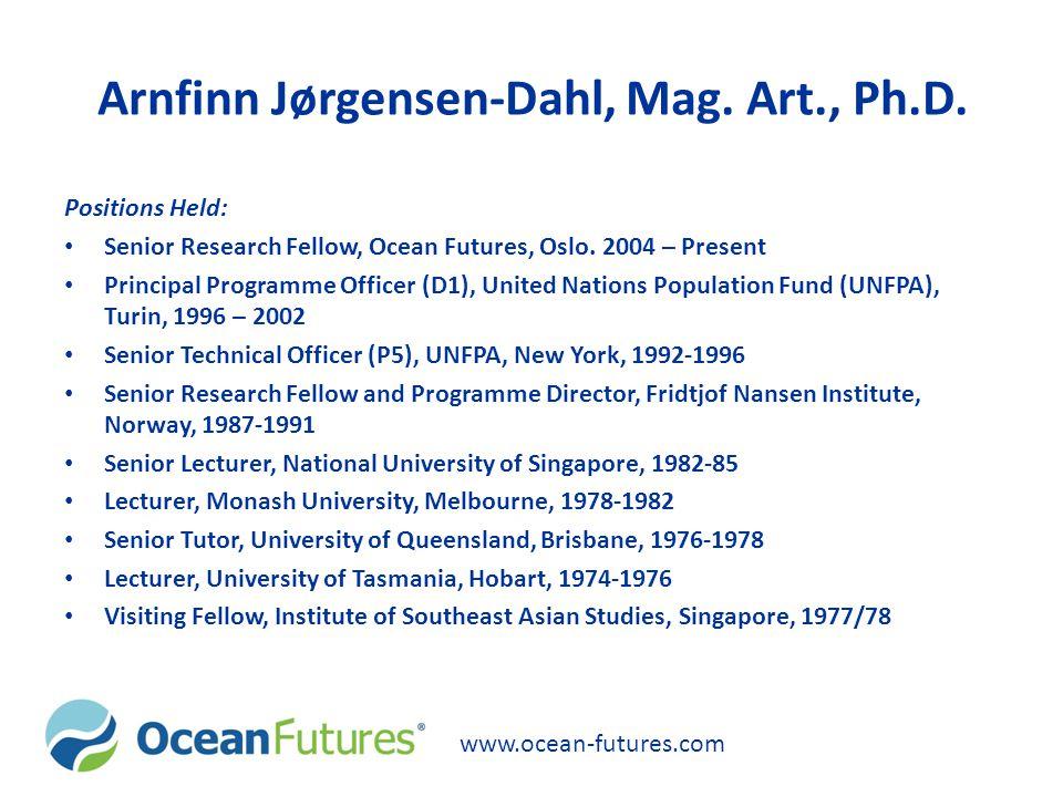 Arnfinn Jørgensen-Dahl, Mag. Art., Ph.D.