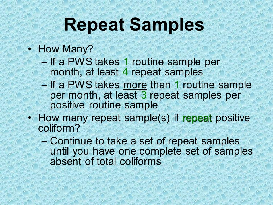 Repeat Samples How Many