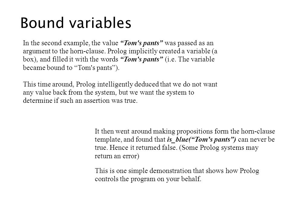 Bound variables