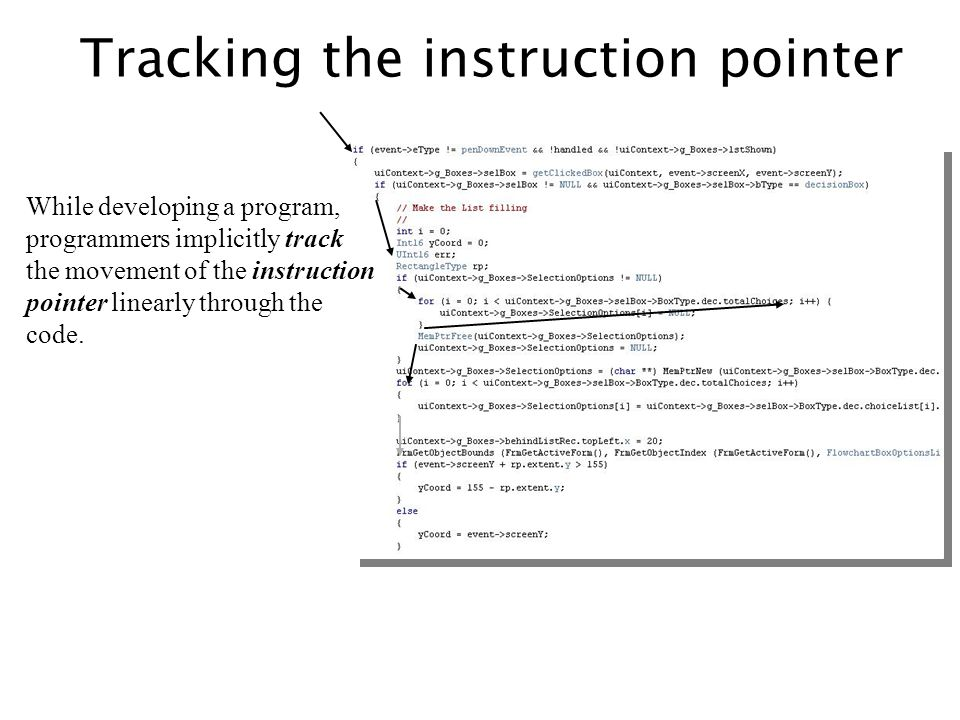 Tracking the instruction pointer