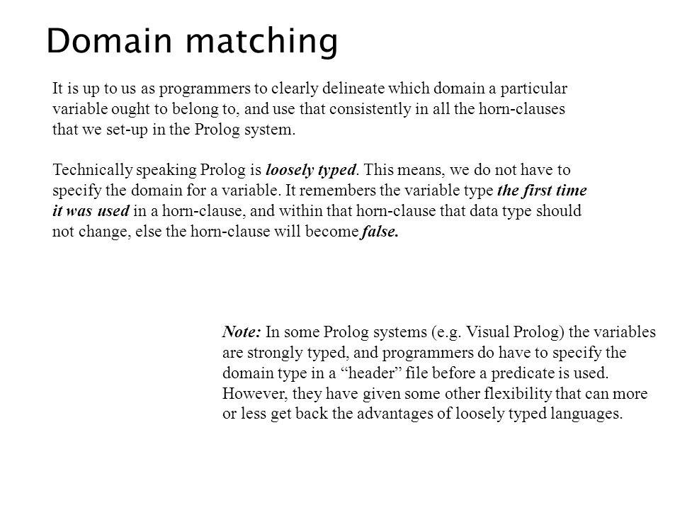 Domain matching