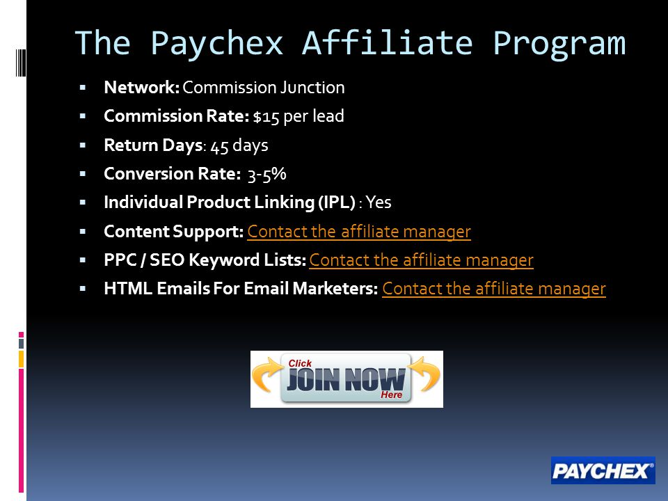 The Paychex Affiliate Program