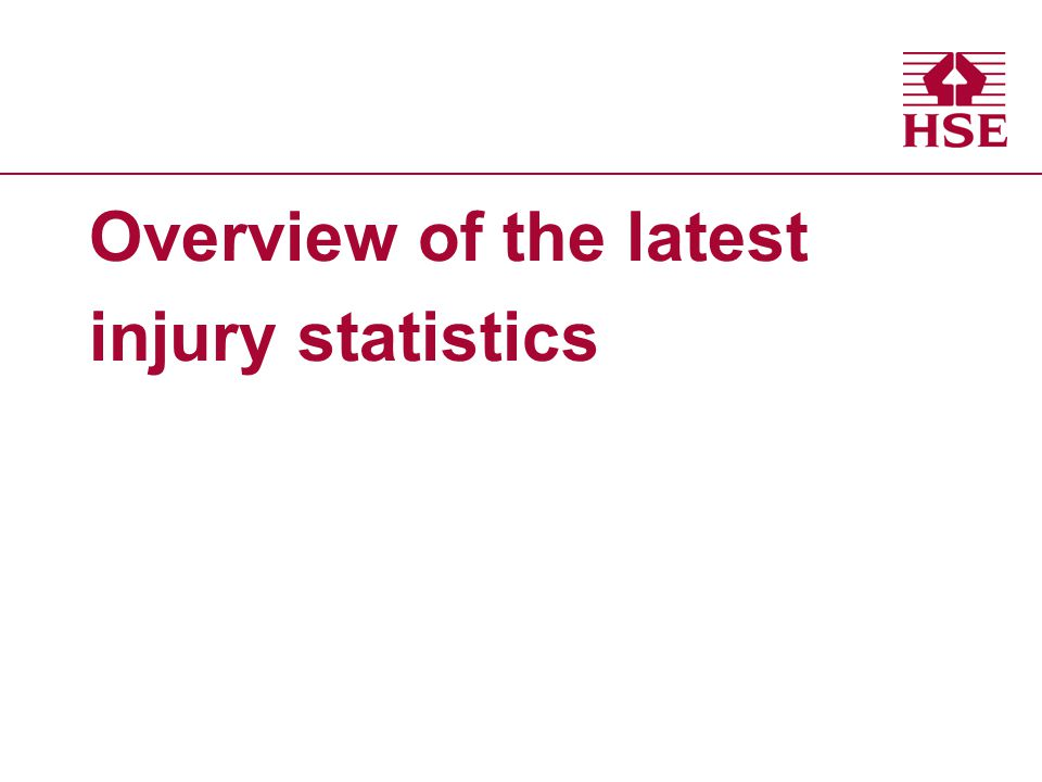 Overview of the latest injury statistics