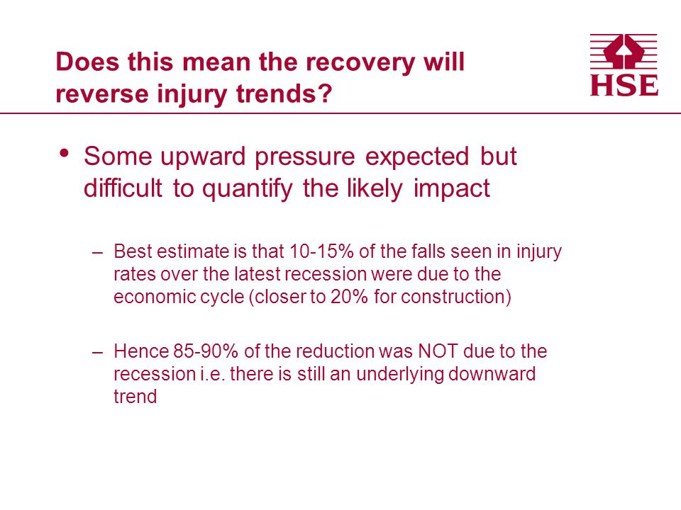 Does this mean the recovery will reverse injury trends