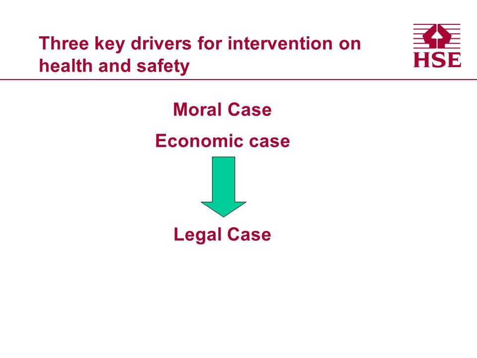 Three key drivers for intervention on health and safety