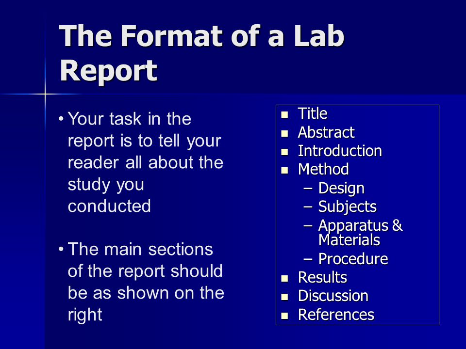results and discussion lab report