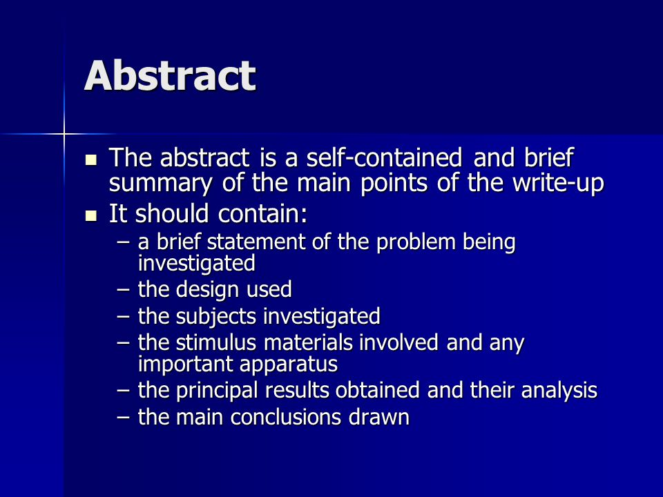 abstract for an essay When you're writing a dissertation or another lengthy research project, you have to include an abstract what's an abstract get a clear definition.
