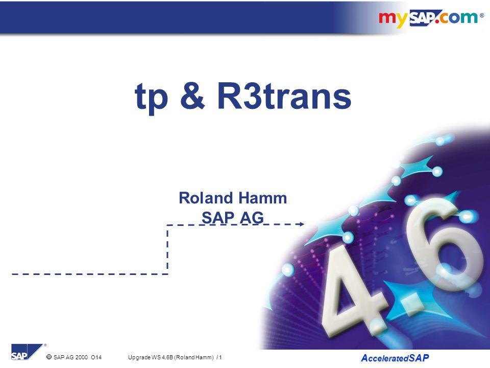 tp & R3trans Roland Hamm SAP AG