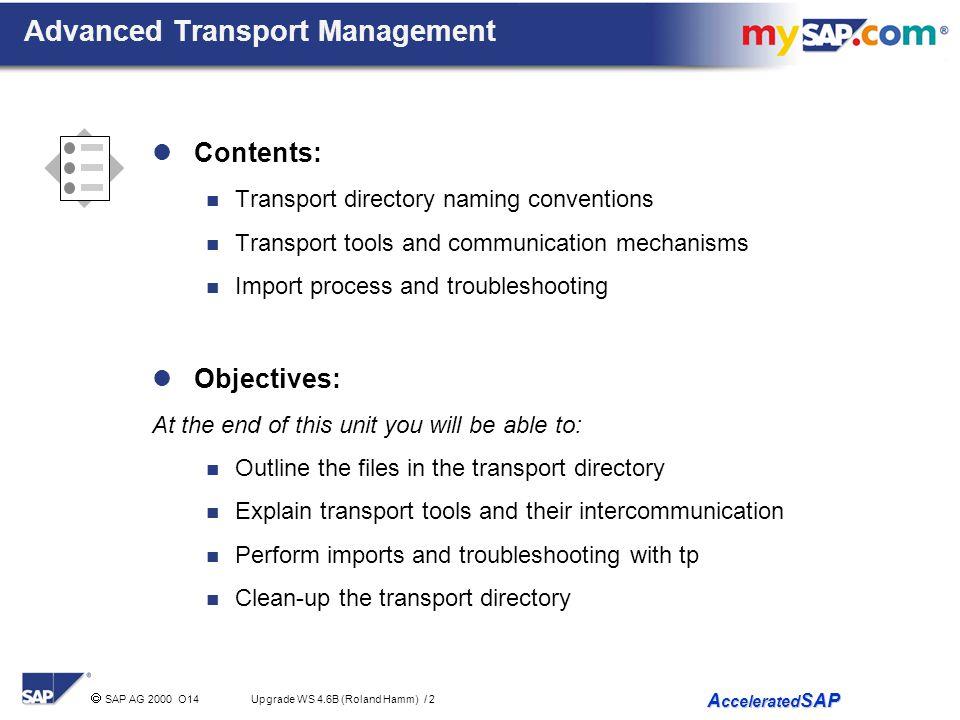 Advanced Transport Management