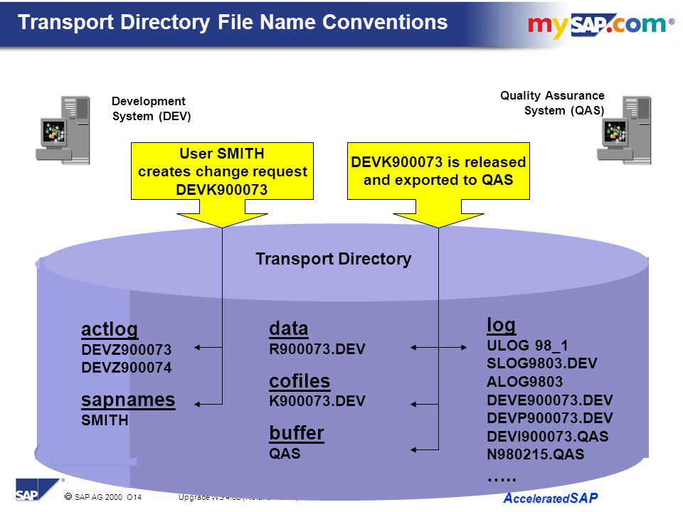 Transport Directory File Name Conventions