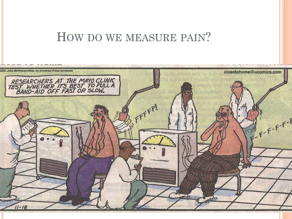 How do we measure pain