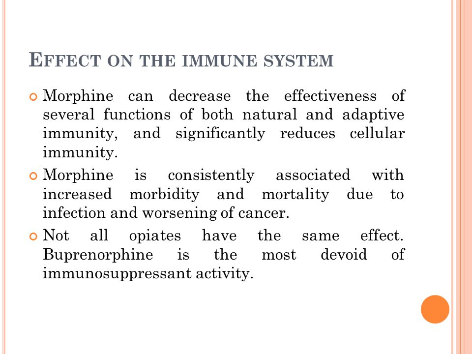 Effect on the immune system