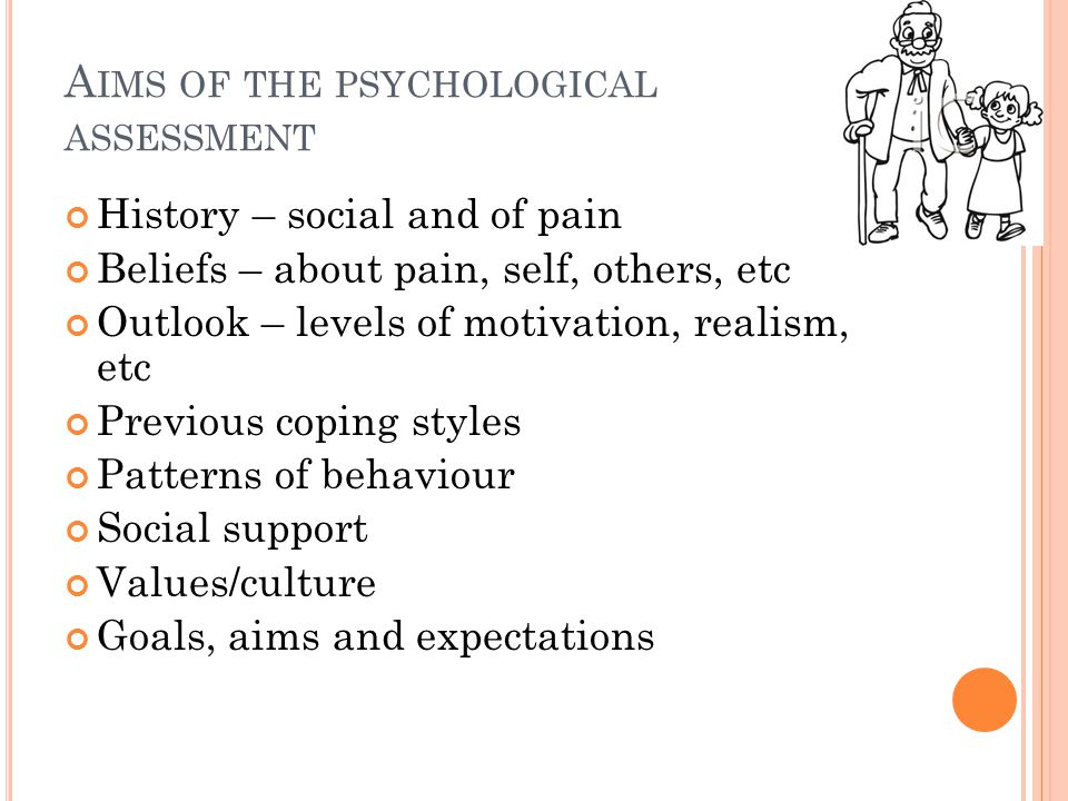 Aims of the psychological assessment