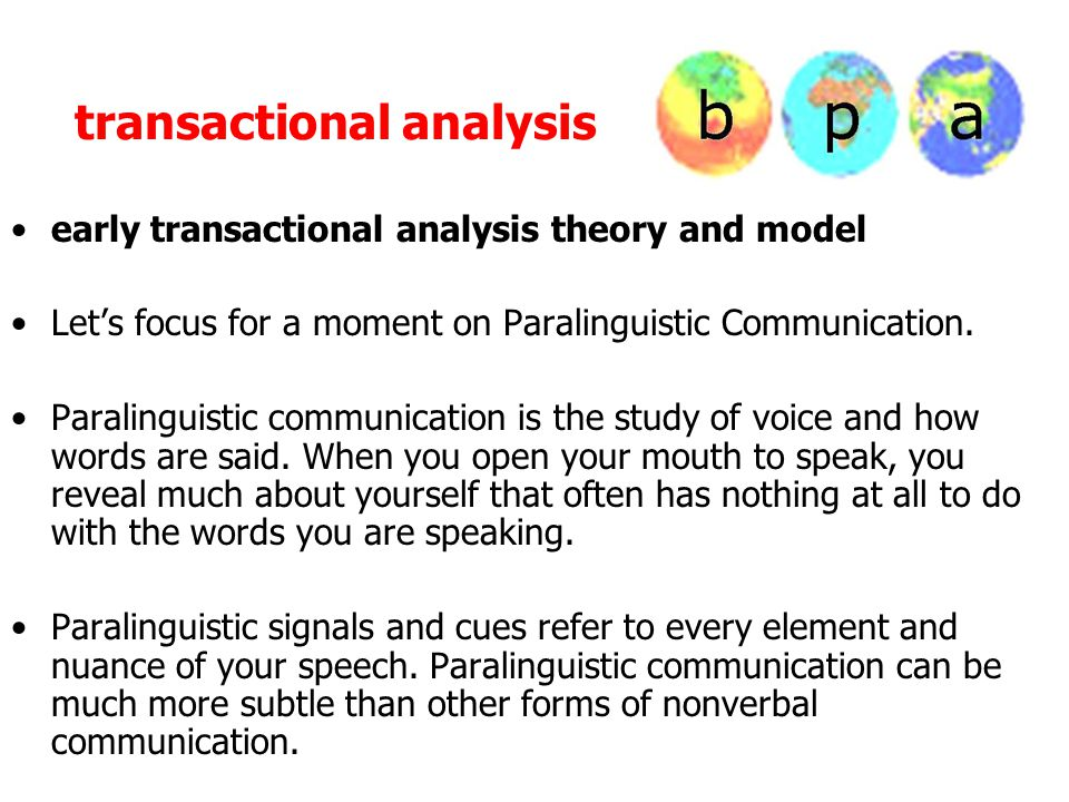 transactional analysis