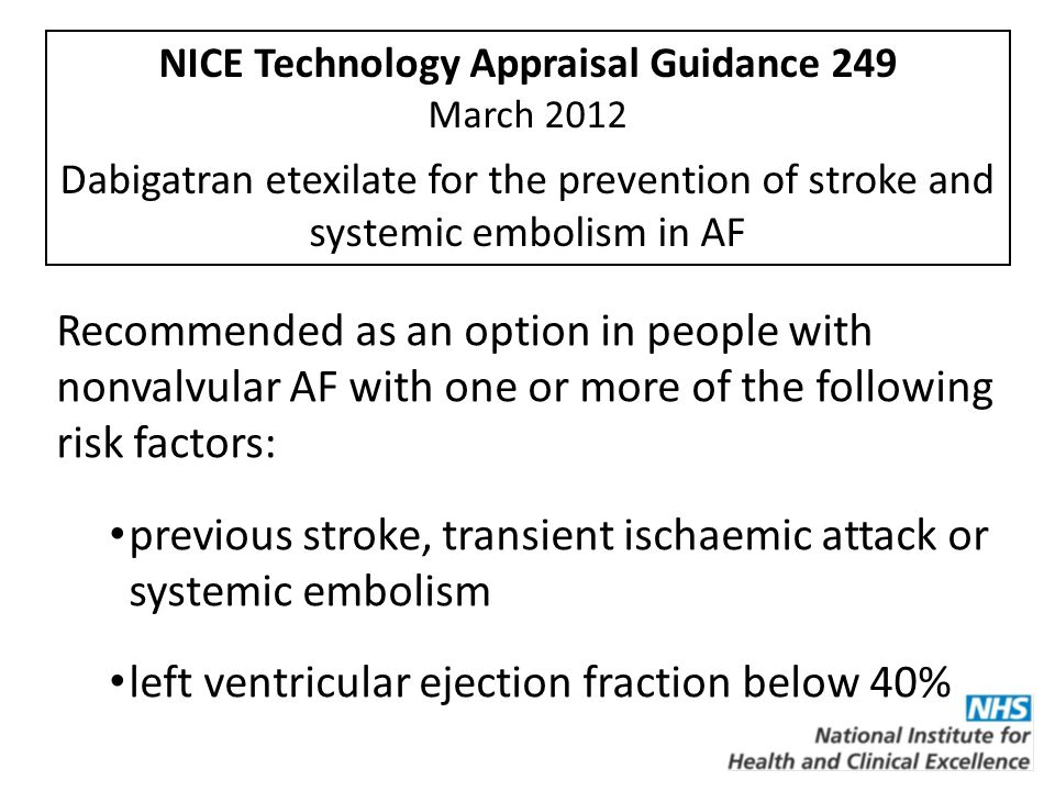 NICE Technology Appraisal Guidance 249