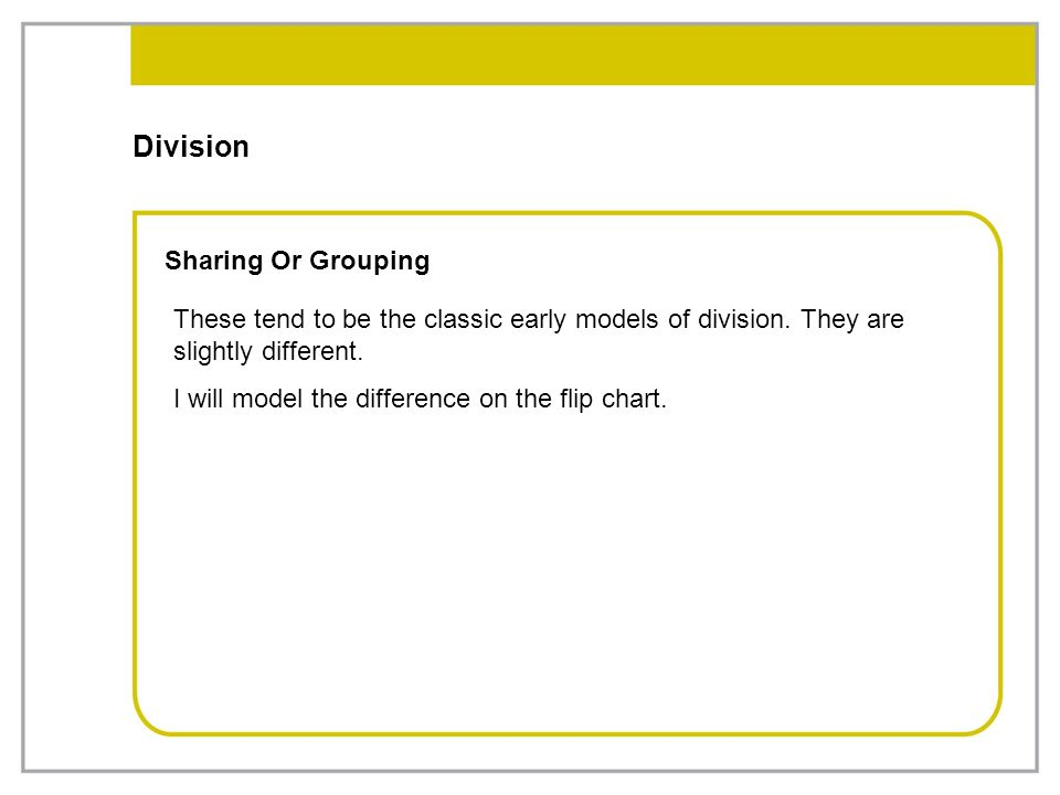 Division Sharing Or Grouping