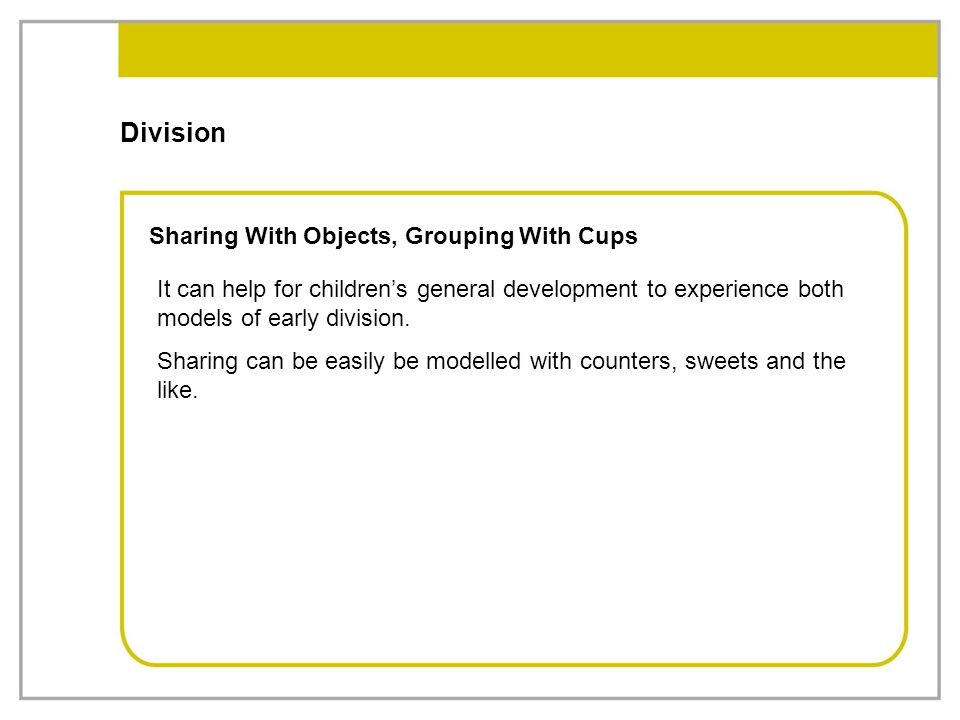 Division Sharing With Objects, Grouping With Cups