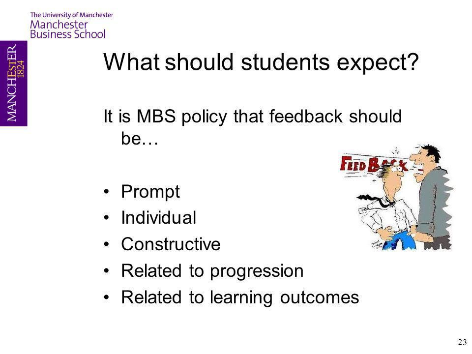 What should students expect